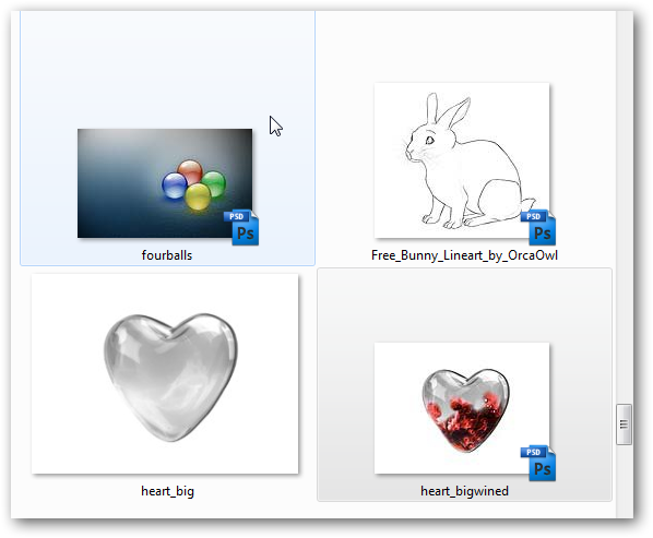 Enable Thumbnail view for PSD files -1