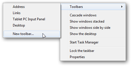 Anchoring the Recycle Bin to Windows 7 superbar-2