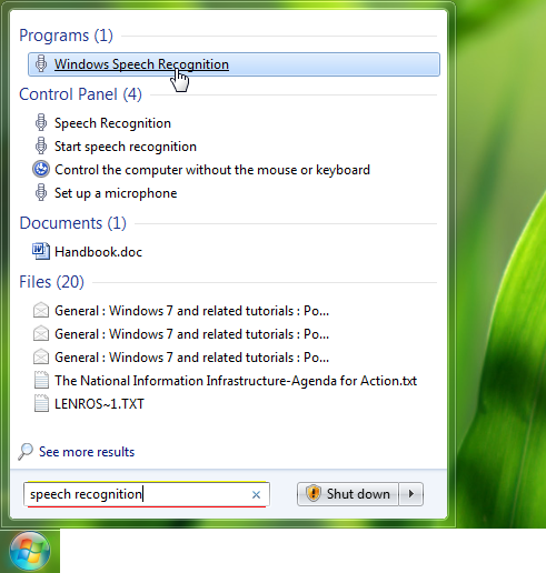 Windows speech recognition-1