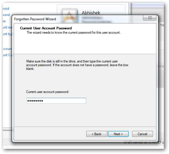 create a password reset disk in Windows 7-4