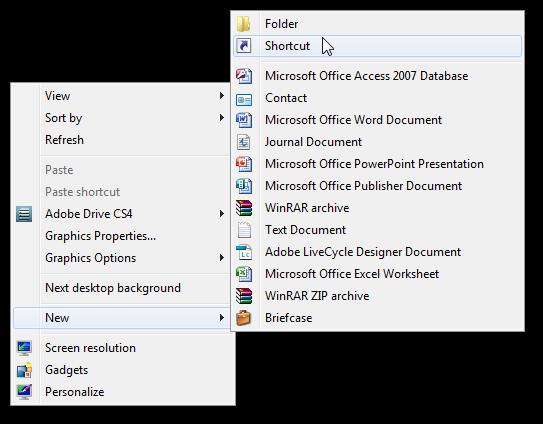 create shortcut to windows 7 default screensavers-1