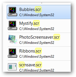 create shortcut to windows 7 default screensavers-2