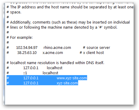 hosts file in Windows 7-1