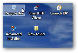 resize Windows 7 desktop icons to small