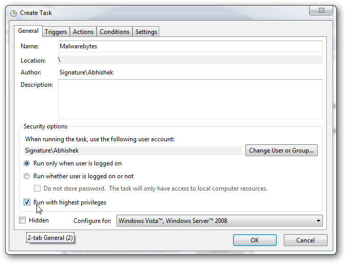 run a program without AUC in Windows 7 -3