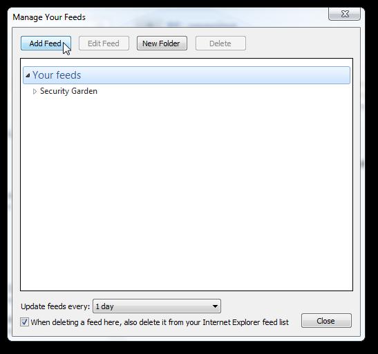 Add RSS in Windows Live mail 2011 (WLM)- 2