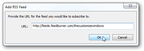Add RSS in Windows Live mail 2011 (WLM)- 3