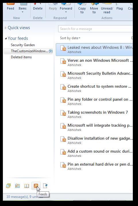 Add RSS in Windows Live mail 2011 (WLM)- 5