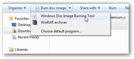 Burn ISO in Windows 7 2