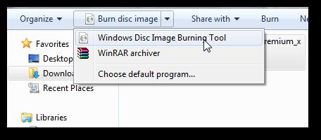 Burn ISO in Windows 7 2