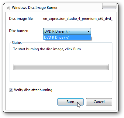 Burn ISO in Windows 7 3
