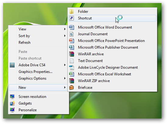 Create a shortcut to system restore or pin system restore to taskbar in Windows 7-1