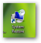Create a shortcut to system restore or pin system restore to taskbar in Windows 7