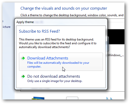 How to use Bing,deviantArt or any RSS images as wallpaper slide show of in Windows 7-5
