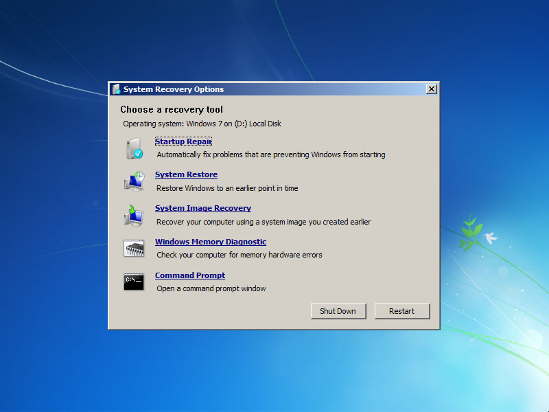 Repair Windows 7 boot and create dual boot
