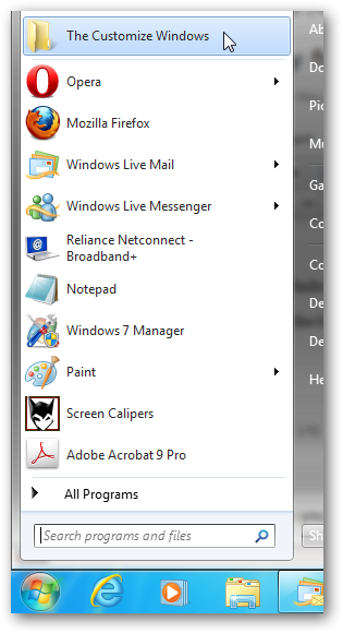 pin a folder on start menu 4