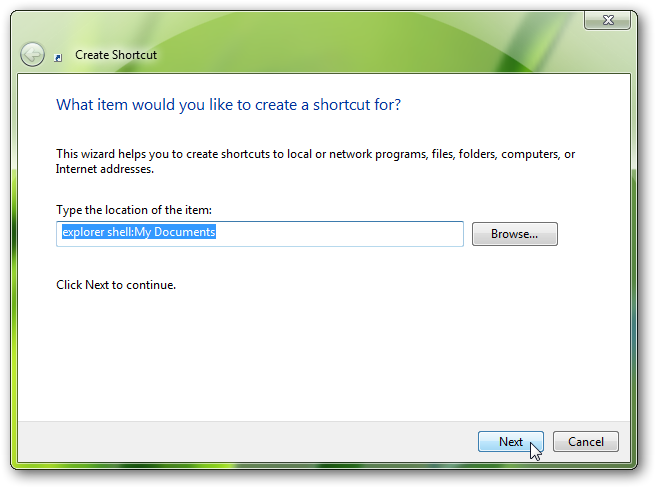 pin any folder or control panel on Windows 7 taskbar-2