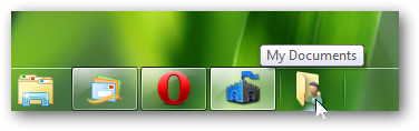 pin any folder or control panel on Windows 7 taskbar
