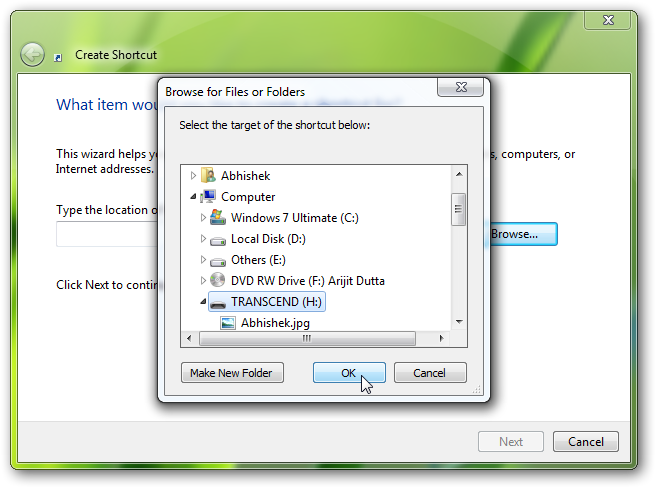 pin thumb drive to taskbar in Windows 7 2