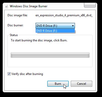 Burn ISO in Windows 7 3