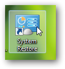 Create a shortcut to system restore or pin system restore to taskbar in Windows 7-2