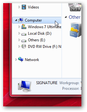 Selectively remove the icons in the navigation Pane in Windows 7-1