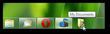 pin any folder or control panel on Windows 7 taskbar