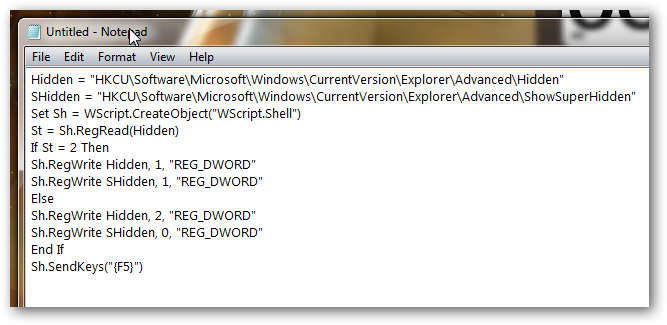 How to add toggle hidden files to context menu in Windows 7