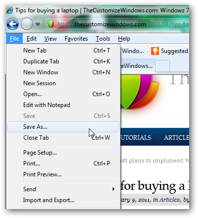 windows save webpage as pdf