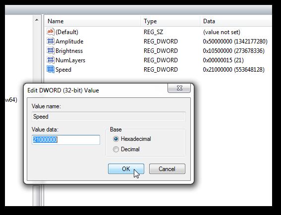 Restore Windows Aurora Screensaver with all settings in Windows 7-5