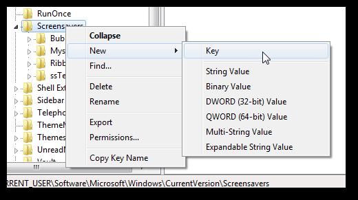 Restore Windows Aurora Screensaver with all settings in Windows 7-3