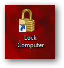 Create a shortcut to Lock Computer in Windows 7-3