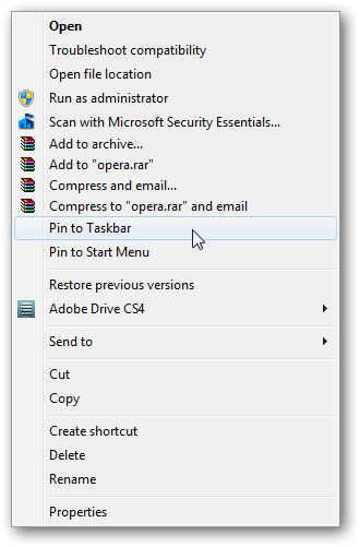 How to remove Pin to Taskbar in right click context menu in Windows 7