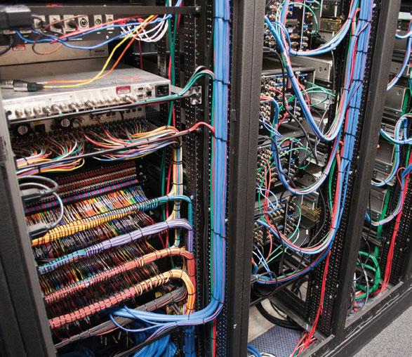 Inside a server