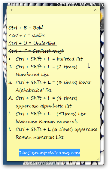Tips for using Sticky Notes in Windows 7 most effectively-3