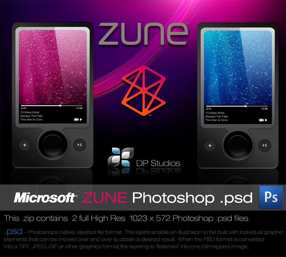 Microsoft Zune PSD full layered