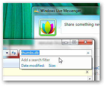 Disable and delete the thumbs.db files in Windows 7