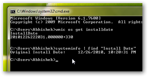 How to check when your Windows 7 was installed