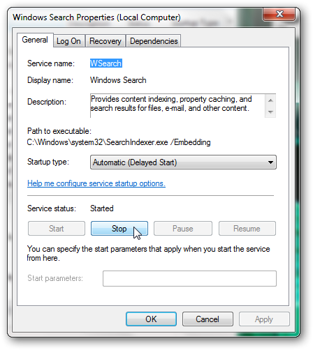 How to disable file indexing in Windows 7-2