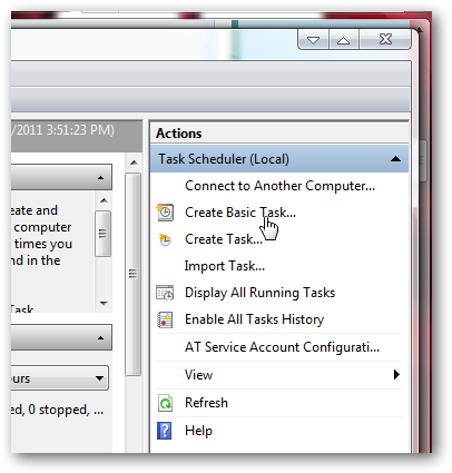 How to create a automated task that runs a program in a set time in Windows 7-1
