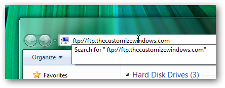 Access ftp server from Windows 7 explorer without using any software-1