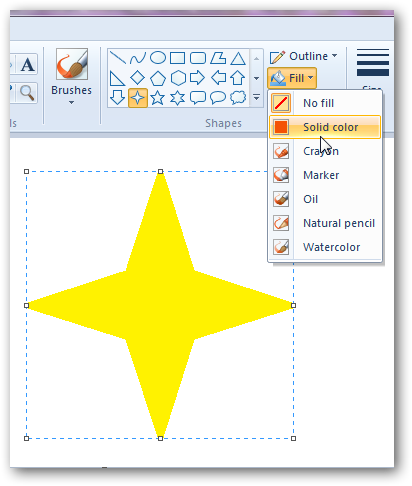 Creating a 3D star in MS Paint-2