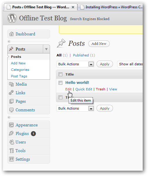 How to install WordPress on Windows 7 to test themes and plugins offline-7
