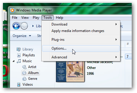 Preview songs in WMP 12 on mouse hover in Windows 7