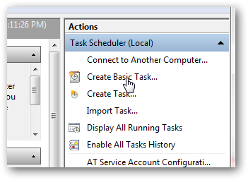 Set up your own alarm clock using Windows 7 Task Scheduler