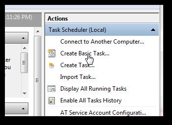 Set up your own alarm clock using Windows 7 Task Scheduler-1