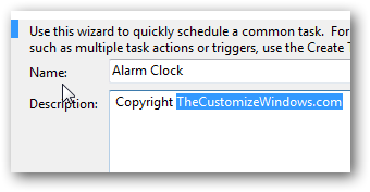 Set up your own alarm clock using Windows 7 Task Scheduler-2