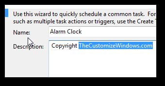 Set up your own alarm clock using Windows 7 Task Scheduler-2