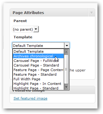 Create an archive page listing in WordPress by date