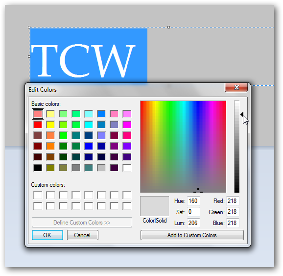 Creating pressed text effect in MS Paint in Windows 7-1